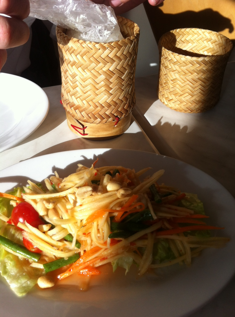 Thai Salad and sticky rice