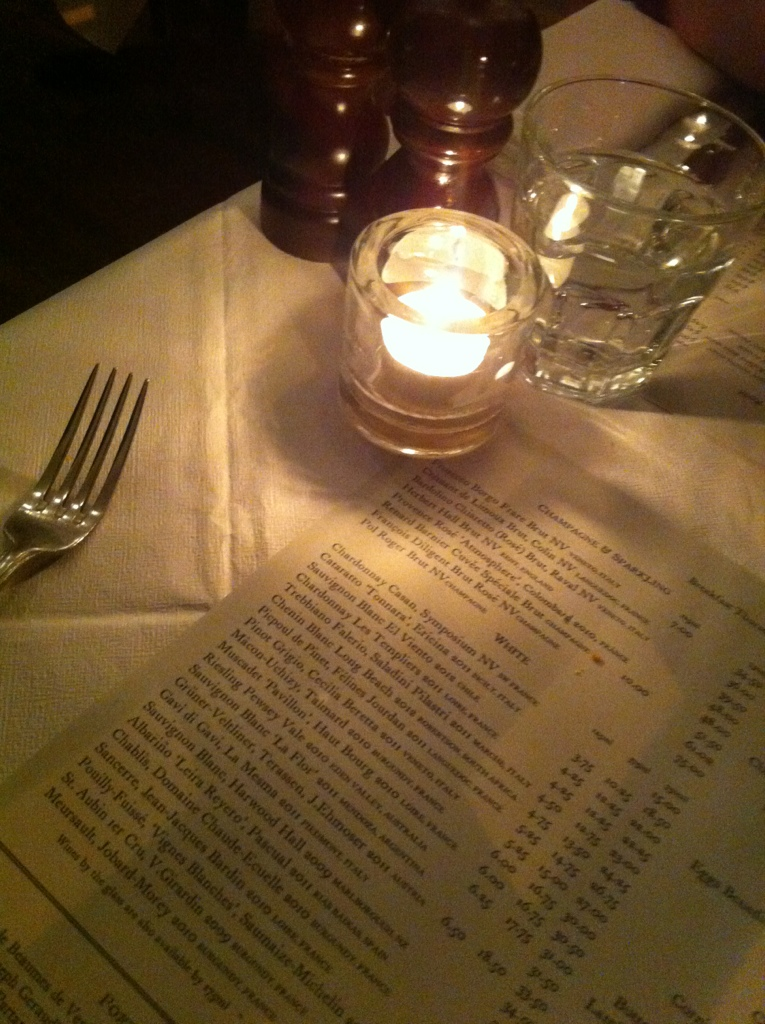 Very pretty atmosphere - ordering at the Rivington Bar and Grill