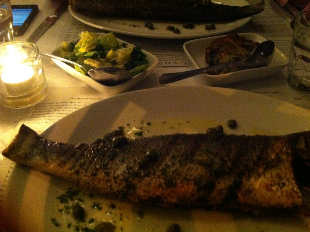 Sea  Bass at Rivington Bar and Grill