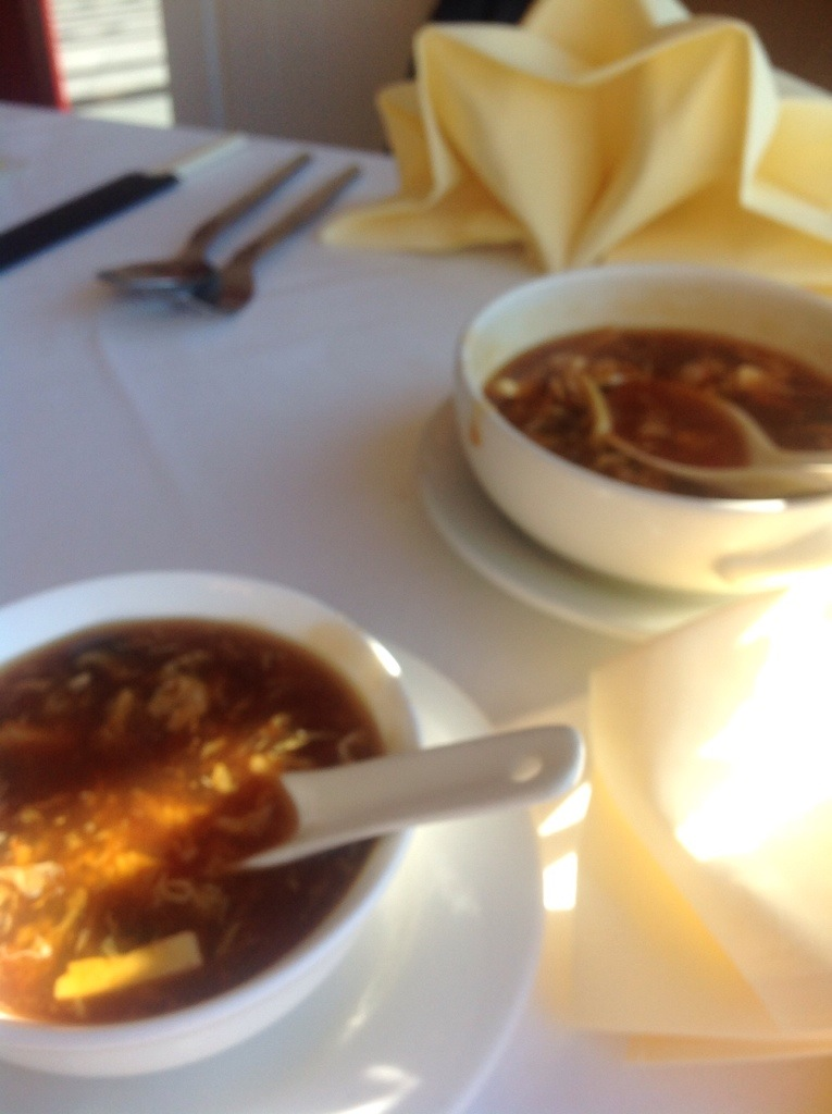 Two hot and sour soups