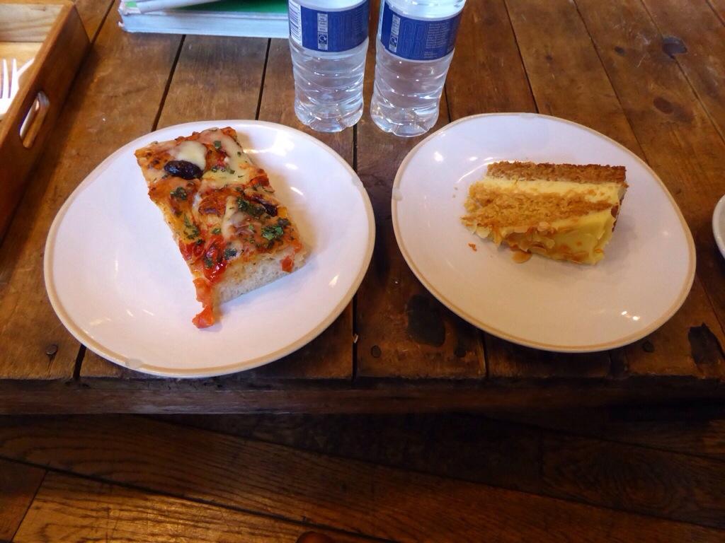 Focaccia and apple cake