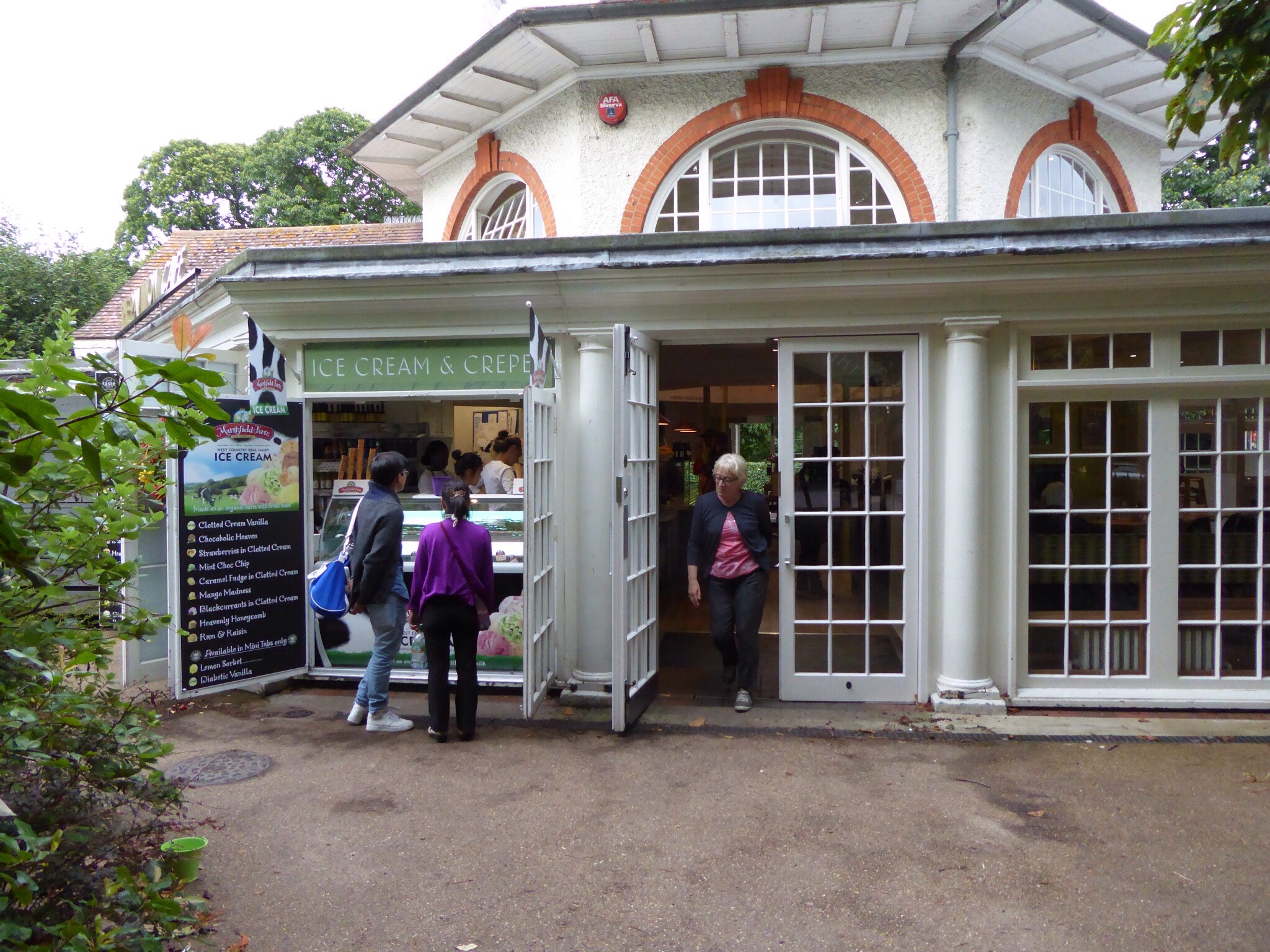 The ice cream shop at the Pavillion in Greenwich