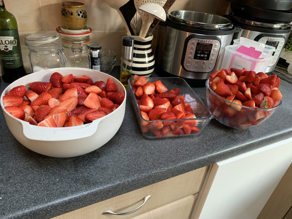 Instant pot and strawberries